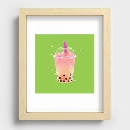 Frozen Boba Tea Recessed Framed Print