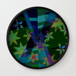Floral patchwork Wall Clock