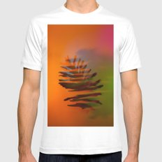 Tropical and Lush MEDIUM Mens Fitted Tee White