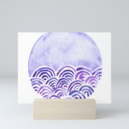 Seigaiha or seigainami literally means wave of the wave . japanese pattern Mini Art Print