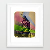 native american Framed Art Prints featuring Native American by Owen Addicott