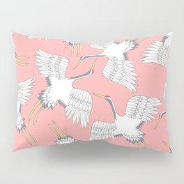 Pink Cranes Pillow Sham