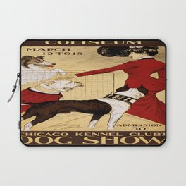 Vintage poster - Chicago Kennel Club's Dog Show Laptop Sleeve