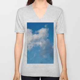 Dreaming floating candy on blue Unisex V-Neck