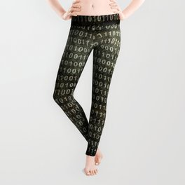 The Binary Code - Distressed textured version Leggings