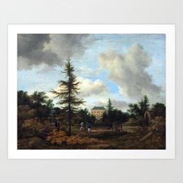 Jacob van Ruisdael Country House in a Park Art Print