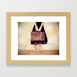Bon Voyage Mademoiselle Framed Art Print