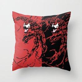 Carnage Throw Pillow