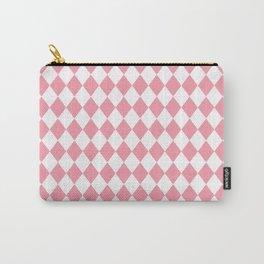 Petal Pink Modern Diamond Pattern Carry-All Pouch