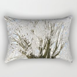 Icy Branches Rectangular Pillow