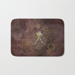 Steampunk Zodiac  Aquarius Bath Mat