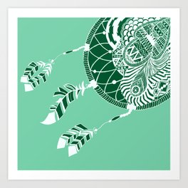 Mint Dreamcatcher Art Print
