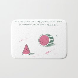 Watermelon Optimism Bath Mat
