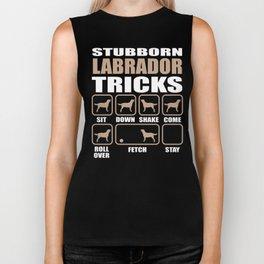 Stubborn Labrador Retriever  Tricks design Biker Tank