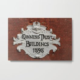 Trust In Guinness Metal Print