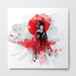 Japanese Geisha Metal Print