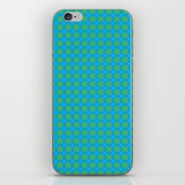 Argyle Pattern   Blue and Green iPhone Skin