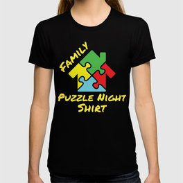 Family Puzzle Night Shirt Puzzle Lover T-shirt