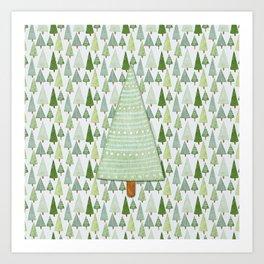 Pine Collage Art Print