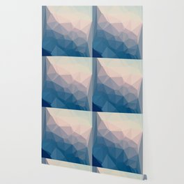 BE WITH ME - TRIANGLES ABSTRACT #PINK #BLUE #1 Wallpaper