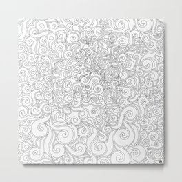 Black & White Swirly 1 Metal Print