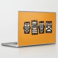 tiki Laptop & iPad Skins featuring Tiki Tiki by Ceskus