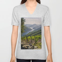 Vineyards along the Douro Valley, Portugal Unisex V-Neck