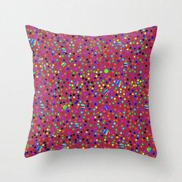 Colorful Rain 13 Throw Pillow