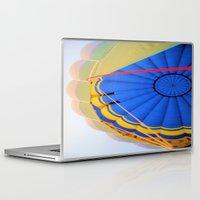 hot air balloon Laptop & iPad Skins featuring Hot Air Balloon by Brian Raggatt