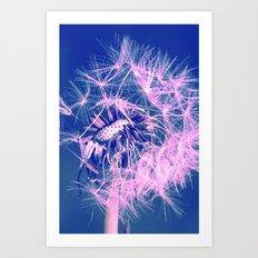 Dandelion Blue Art Print
