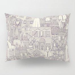 vintage halloween purple ivory Pillow Sham