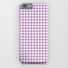 Lilac Gingham Check iPhone Case