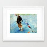 safari Framed Art Prints featuring Safari by Zoï-Zoï
