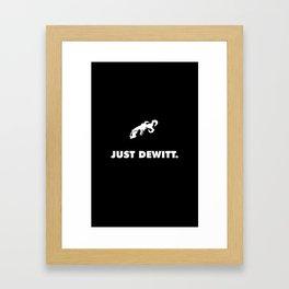 Just DeWitt Framed Art Print