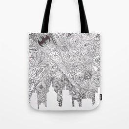 Bat City Doodle Tote Bag