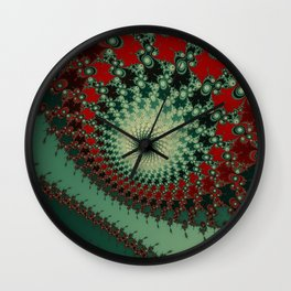 Peppery Stuff - fractal art Wall Clock