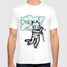 Skeleton Cat with Sword T-shirt