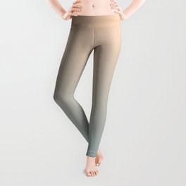 HALF MOON - Minimal Plain Soft Mood Color Blend Prints Leggings