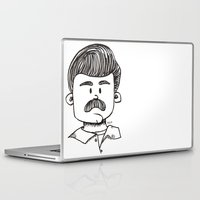 ron swanson Laptop & iPad Skins featuring Ron Swanson by art by arielle