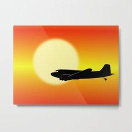 DC-3 passing sun Metal Print