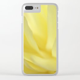 Mellow Yellow Peony Close up Clear iPhone Case