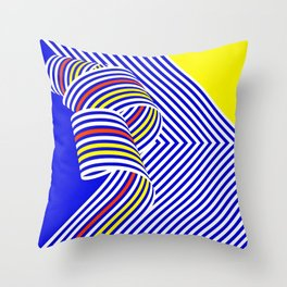 Curving Space Throw Pillow