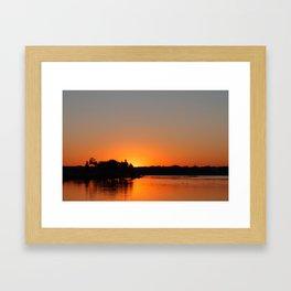 Sunset at Sunset Bay Framed Art Print