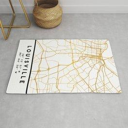 LOUISVILLE KENTUCKY CITY STREET MAP ART Rug