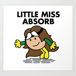 Little Miss Abosorb Art Print