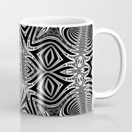 Black & White Tribal Symmetry Coffee Mug