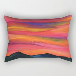 TWILIGHT SKY OVER MOURNE MOUNTAINS - Abstract Sky Oil Painting Rectangular Pillow