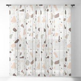 Terrazo marble Sheer Curtain