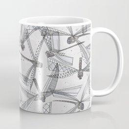 watercolor dragonflies silver Coffee Mug