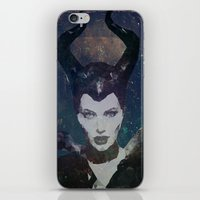 maleficent iPhone & iPod Skins featuring Maleficent by Esco